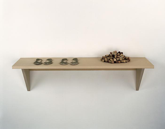 Haim Steinbach Untitled (insoles, corks) 1997 MDF...