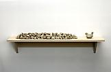 Haim Steinbach Untitled (rocks, bird) 2006 MDF she...