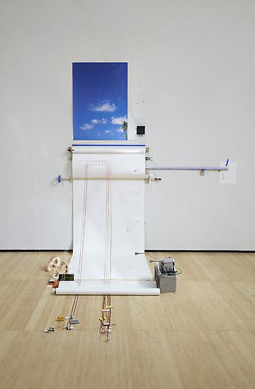 Sarah Sze Random Walk Drawing (Air) 2011 Mixed med...