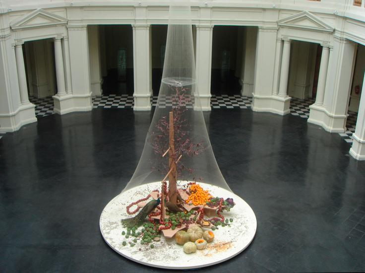 Laura Lima Phaesants with Food 2005/2006 Wood, fis...