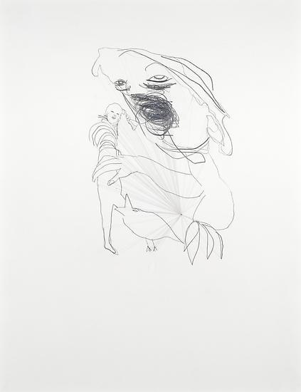 Mark MANDERS Untitled Drawing (Left Leg) 2008 penc...