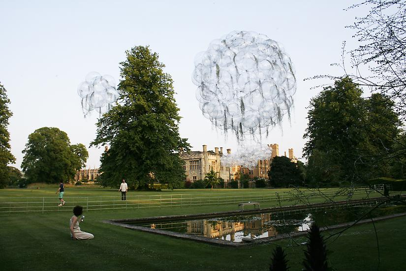 Installation at the Gardens of Sudeley Castle, Win...