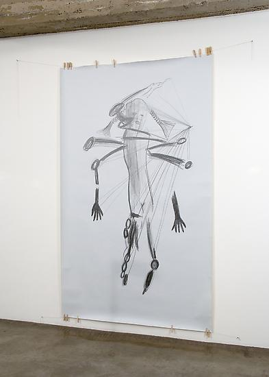 Mark Manders Falling Hands 2009 pencil on paper, t...
