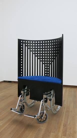 Laura Lima Mackintosh Wheelchair 2014 fabric, meta...