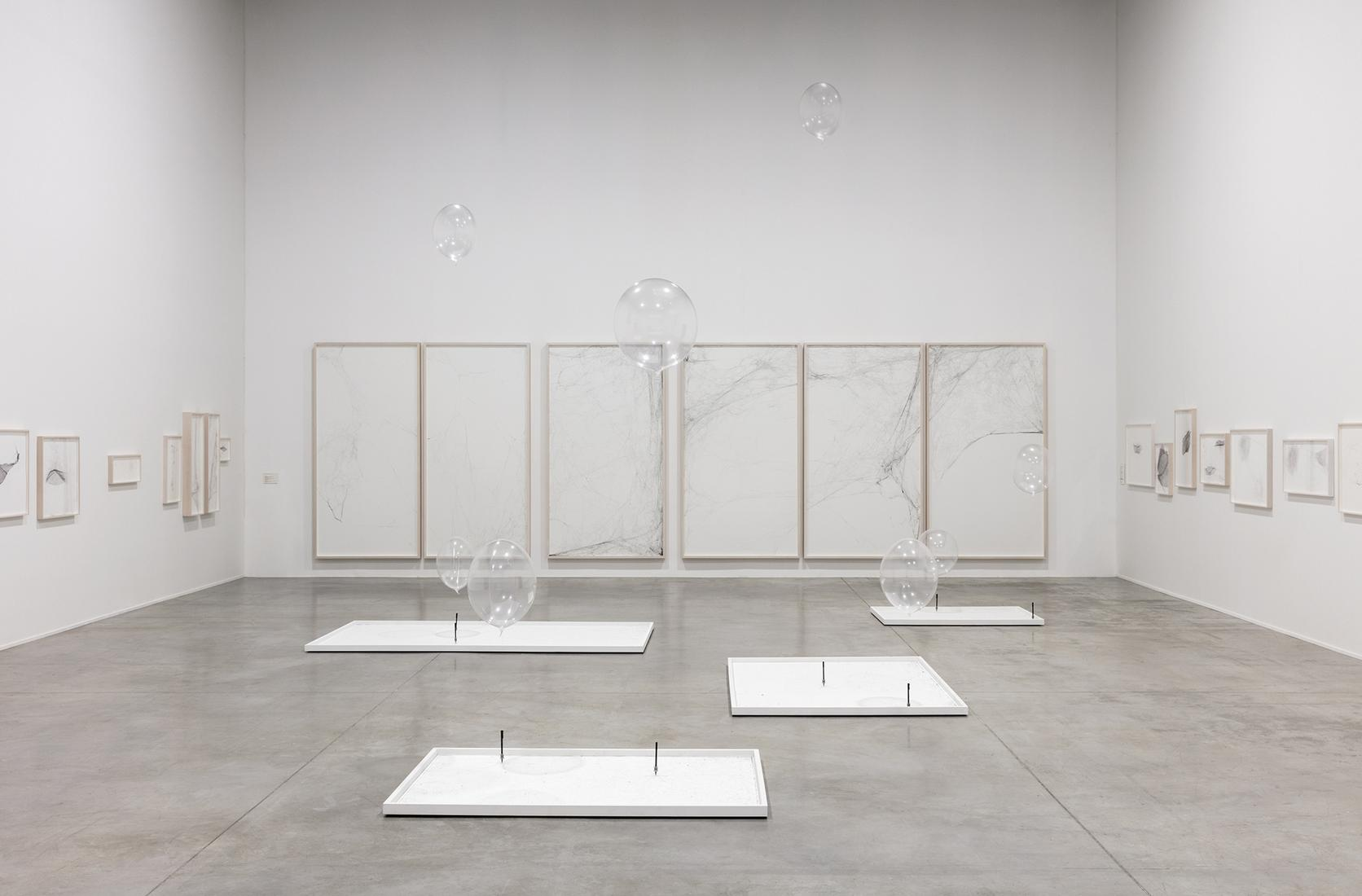 This is an installation images of Tomas Saraceno's...