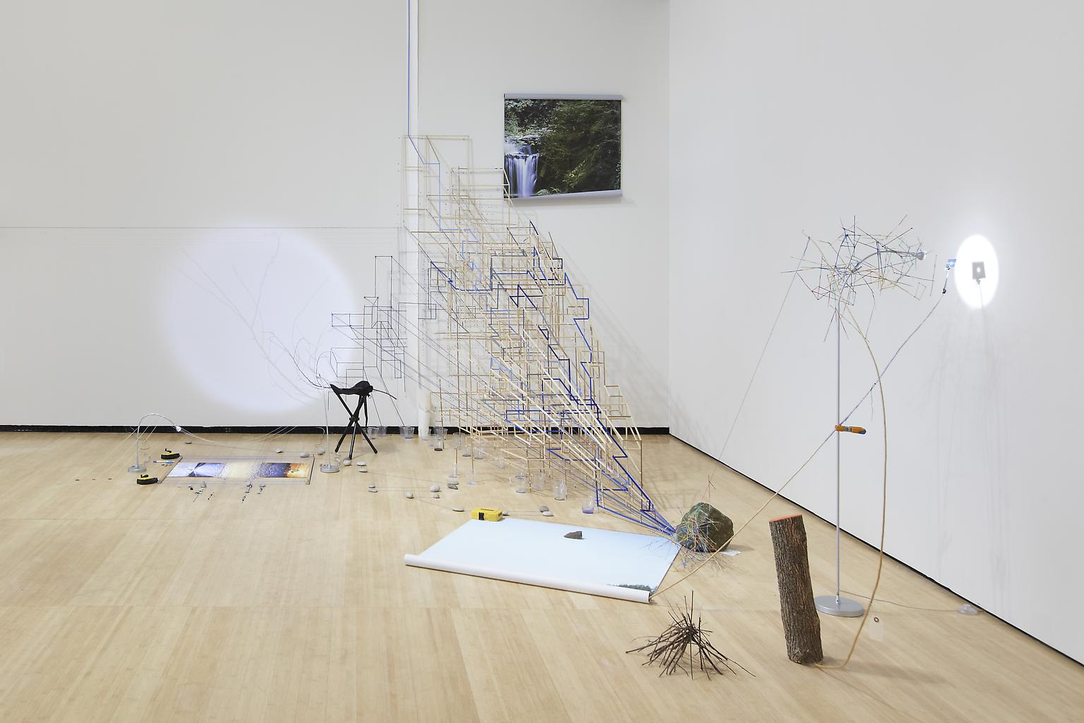 Sarah Sze Random Walk Drawing (Water) 2011 Mixed m...
