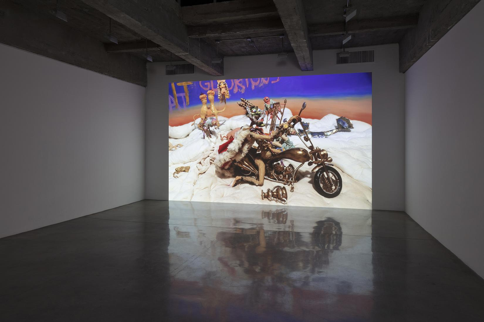 This is an installation image of Djurberg and Berg...
