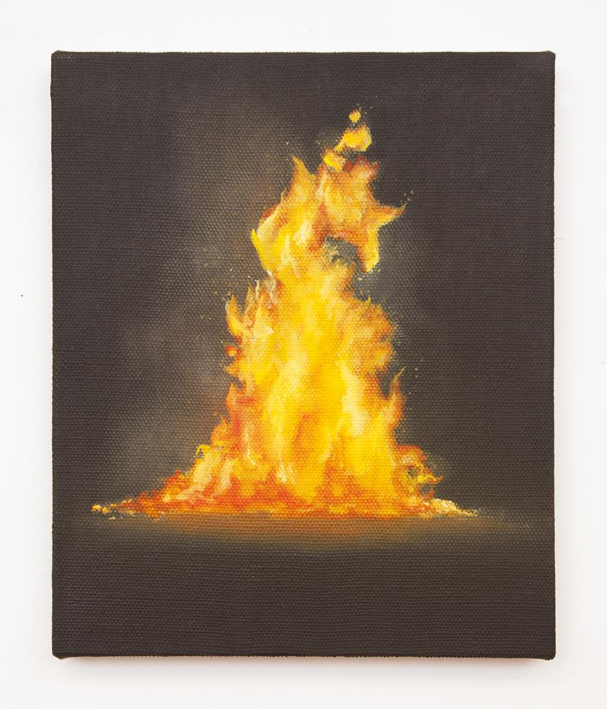 Dana POWELL Bonfire 2018 Oil on linen 12 x 10 inch...
