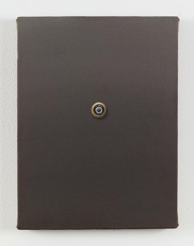 Dana POWELL Brass eye 2017 Oil on linen 12 x 9 inc...