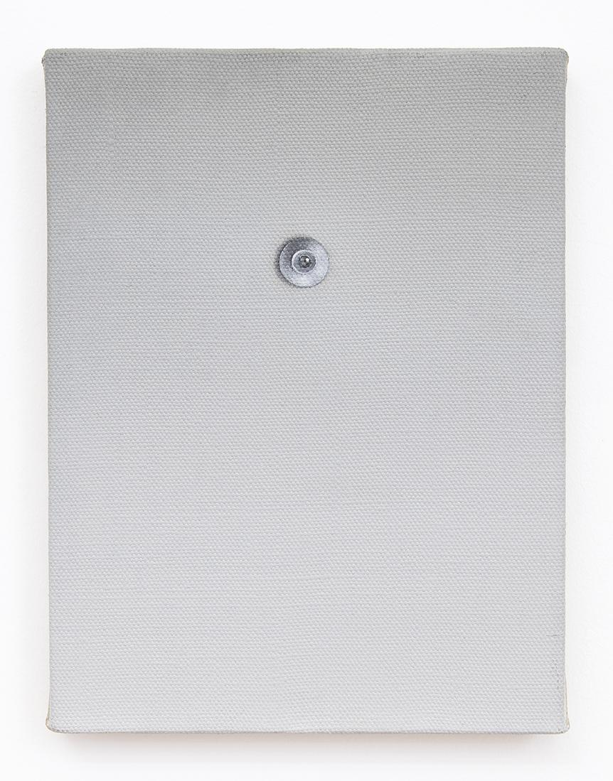 Dana POWELL Silver peephole 2016 Oil on linen 12 x...