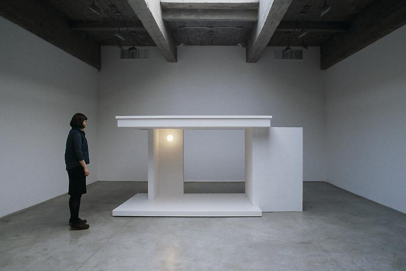 Sabine HORNIG Entrance 2002 wood, light, stucco, a...