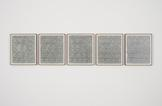 Lisa Oppenheim Leisure Work II 2012 Five silver ge...