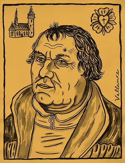 Jeffrey VALLANCE Martin Luther 2009 ink on paper 1...