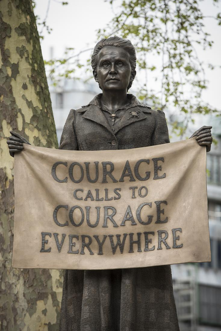 PERMANENT INSTALLATION - PARLIAMENT SQUARE, LONDON - GILLIAN WEARING: MILLICENT FAWCETT STATUE -  - Exhibitions