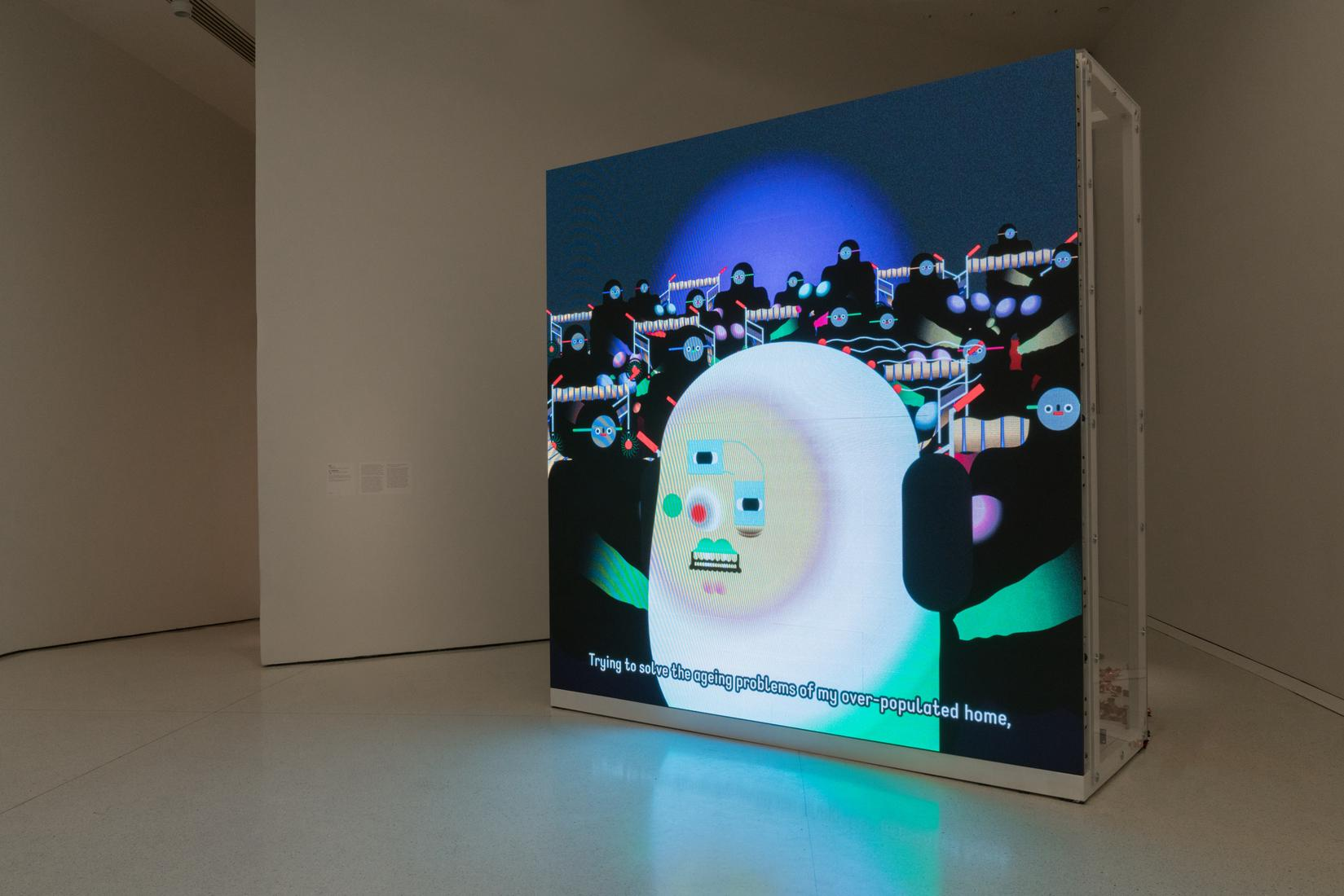Wong Ping, Installation view,One Hand Clappi...