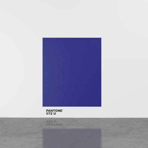 Haim STEINBACH pantone072U 2016 Vinyl text, acryli...