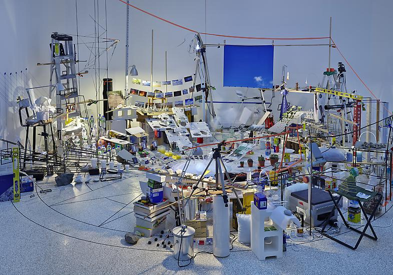 Sarah Sze Triple Point (Pendulum) 2013 Salt, water...