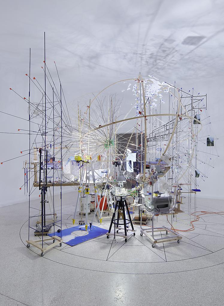 Sarah Sze Triple Point (Planetarium) 2013 Wood, st...