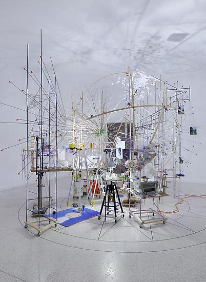 Sarah Sze Triple Point (Planetarium) 2013 Wood, st...
