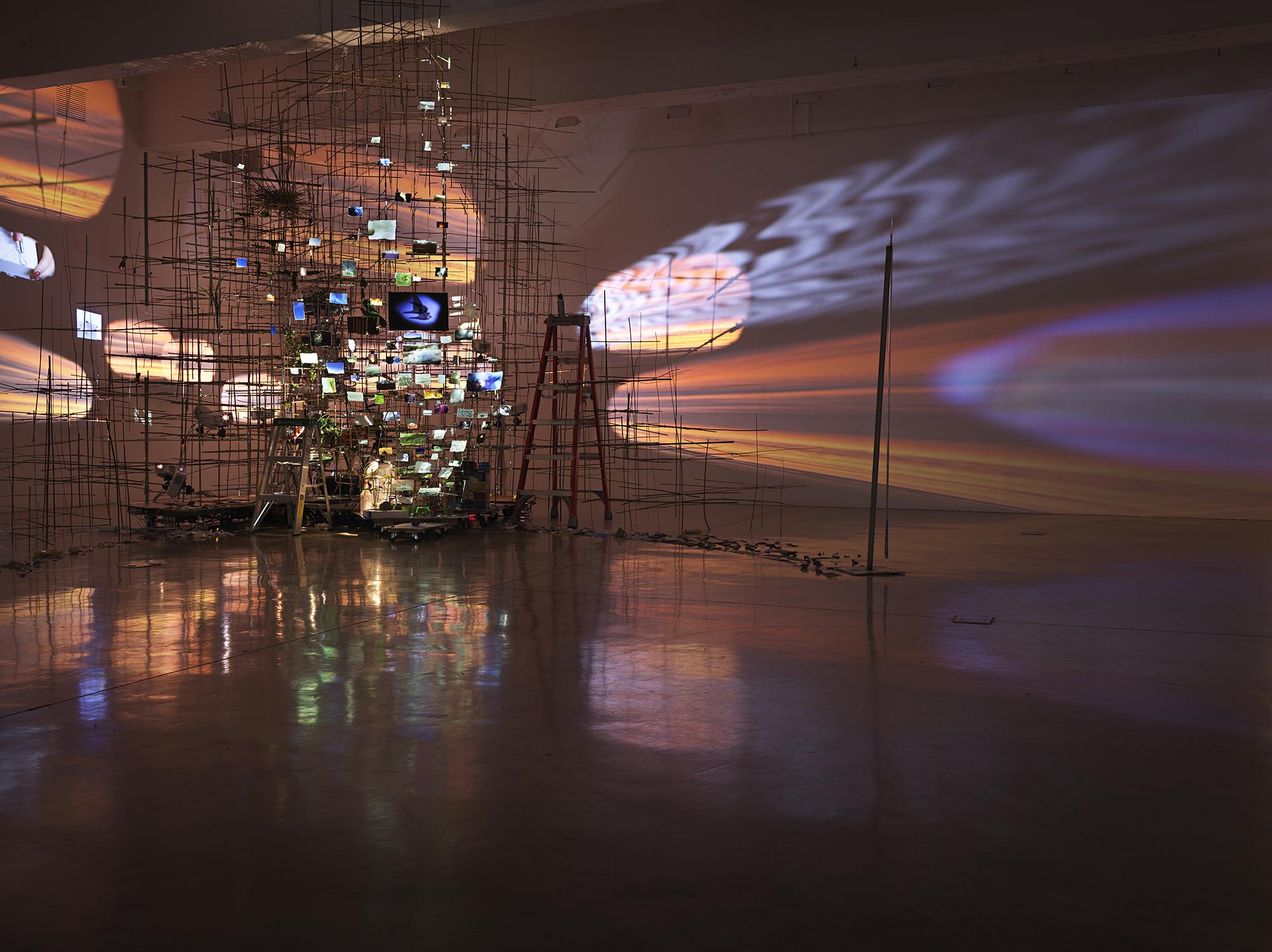 This is an image of Sarah Sze's sculpture called C...