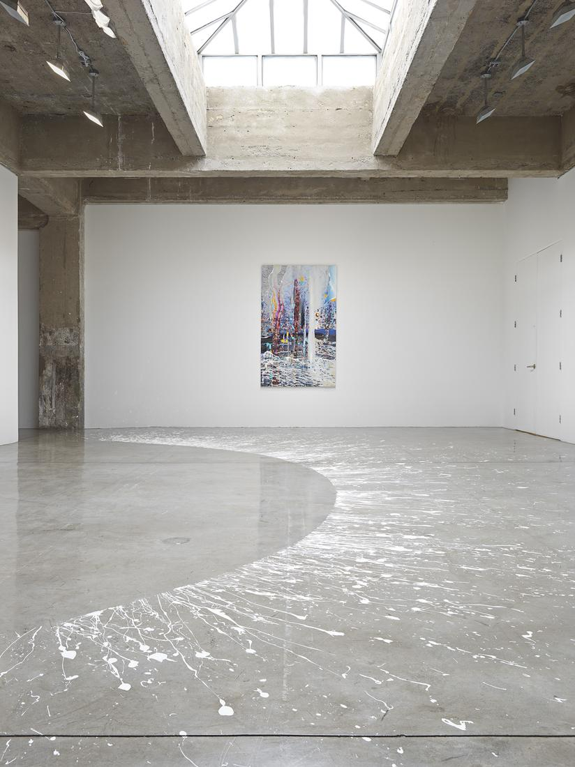 This is an installation image of Sarah Sze's exhib...