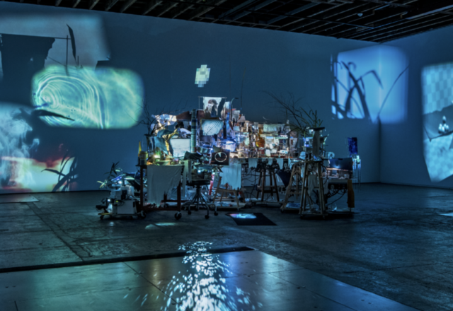 """This is image of Sarah Sze's installation """"Images..."""