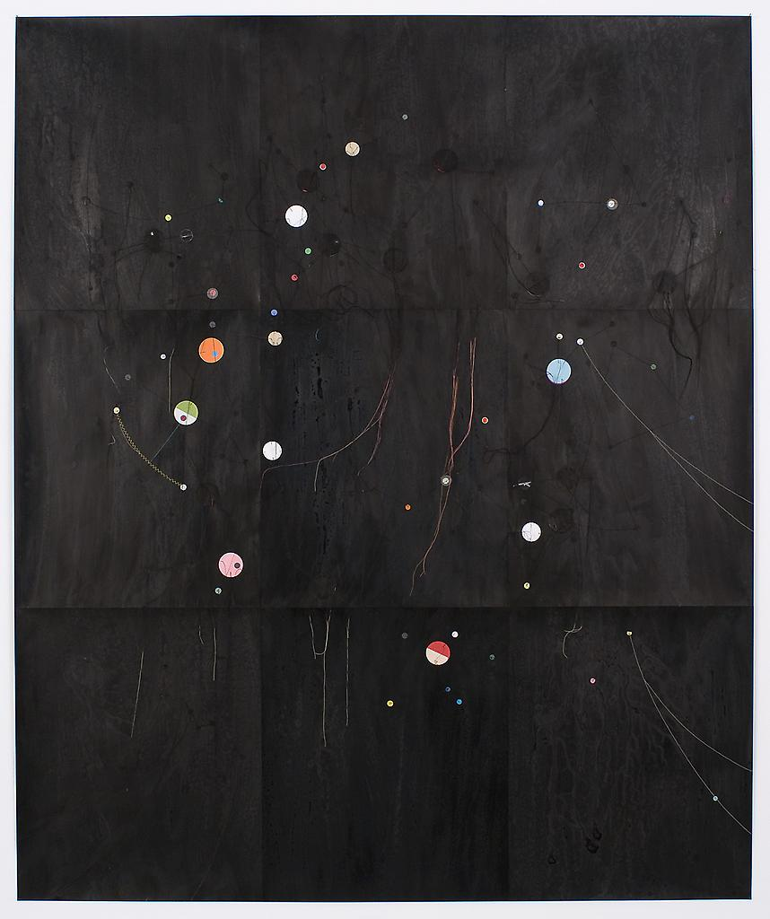 Dirk Stewen Untitled 2008 ink, confetti and cotton...