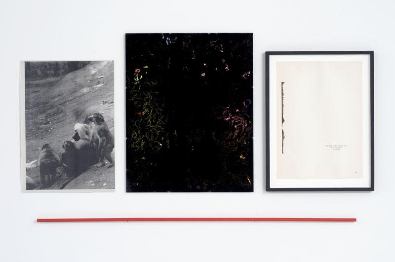 Dirk Stewen Untitled 2008 photocopy, ink on glass,...