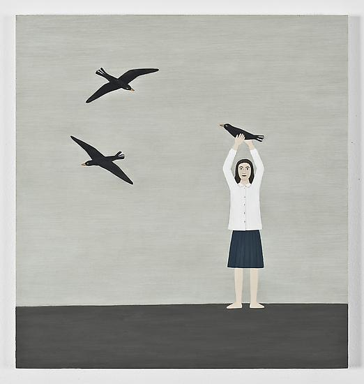 Rita Lundqvist Birds (Fåglar) 2009 oil on pa...