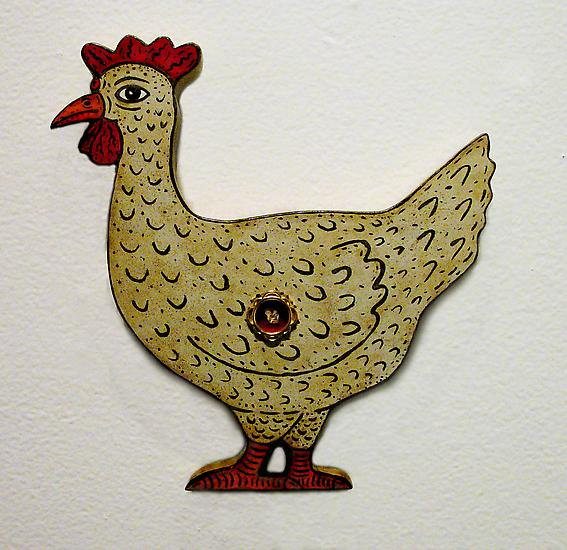 Jeffrey VALLANCE Chicken-shaped Blinky Reliquary 2...