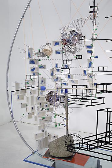 Sarah Sze Disappearing Act 2012 Mixed media, glass...