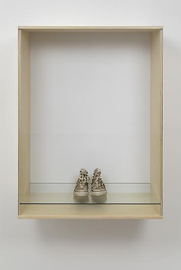 Haim Steinbach Untitled (sneakers) 2013 Wood, plas...