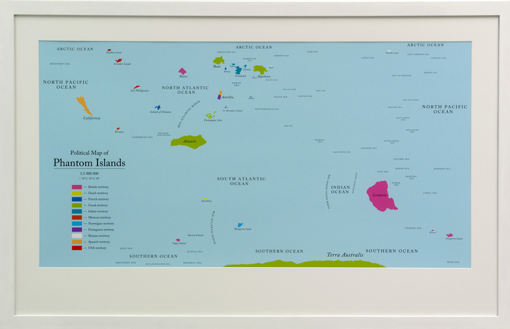 Agnieszka KURANT Political Map of Phantom Islands...