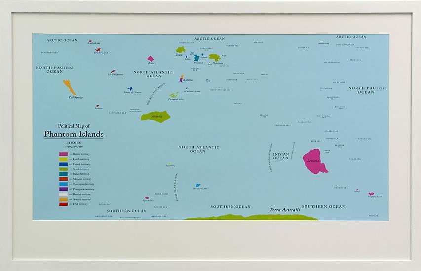 Agnieszka KURANT Political Map of Phantom Islands...