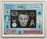 Leonard Nimoy 2012 enamel on paper 16 x 20 inches;...