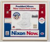 Richard Nixon 2012 enamel on paper 16 x 20 inches;...