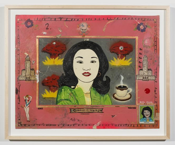 Connie Chung #2 1981 enamel on board with decals 1...