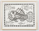 Key West Scorpionfish with Sea Creatures 2013 ink...