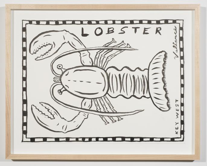 Key West Lobster 2013 ink on paper 12 x 16 inches...