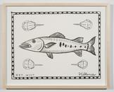 Key West Barracuda with Horseshoe Crabs 2013 ink o...