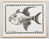 Key West Triggerfish 2013 ink on paper 12 x 16 inc...