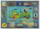 Tourist Map of Key West #3 2013 enamel on board wi...