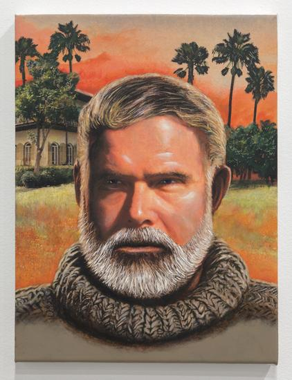Self Portrait as Hemingway 2013 acrylic on canvas...