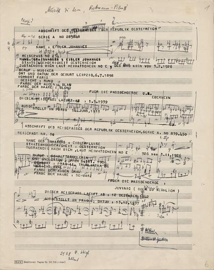 Susan PHILIPSZ Part File Score I 2014 Digital prin...