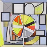 Thomas SCHEIBITZ Wheel of Fortune 2014 oil, vinyl,...