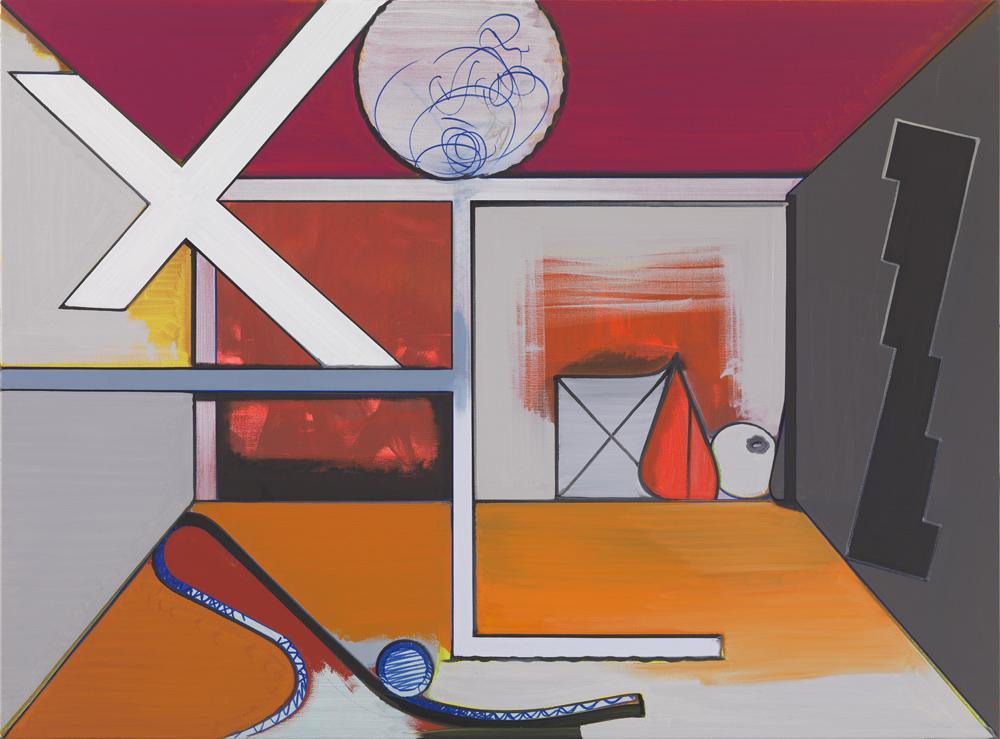 Thomas SCHEIBITZ Studio (L.A.) 2014 oil, vinyl, pi...