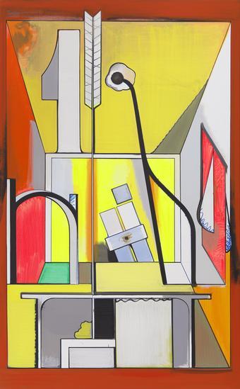 Thomas SCHEIBITZ Studio Imaginaire 2014 oil, vinyl...