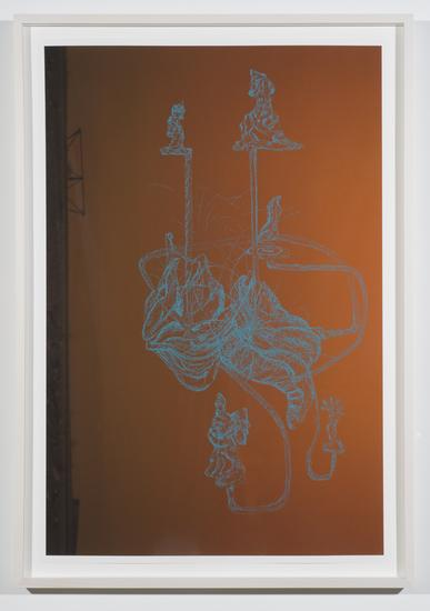 Charles LONG Knvu 2014 pastel on photograph Frame...