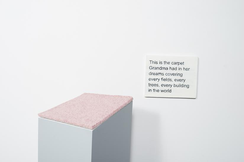 Laure Prouvost This is the carpet Grandma had in h...