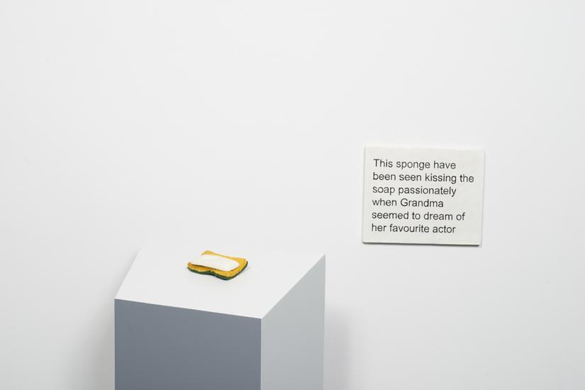 Laure Prouvost This sponge have been seen kissing...